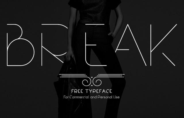 break typeface