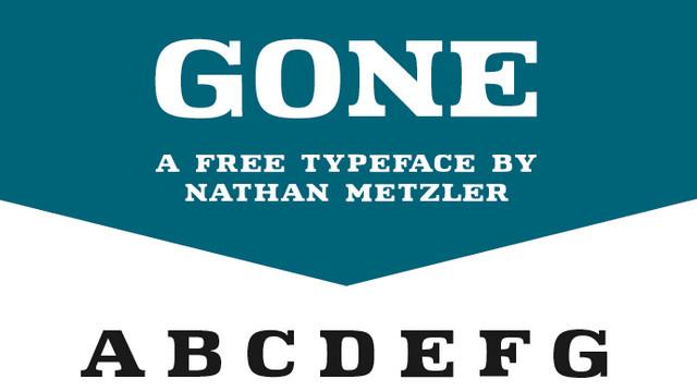 gone typeface