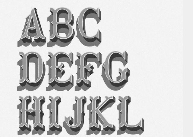 retro bold font