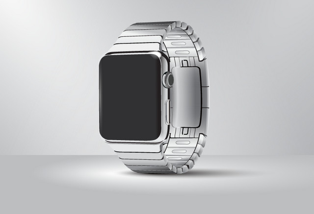 silver apple watch