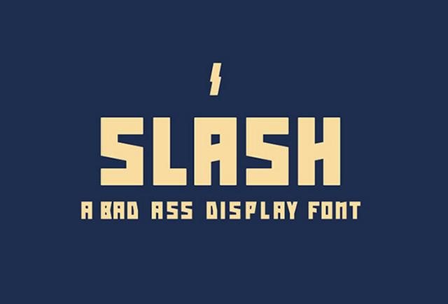 slash typeface