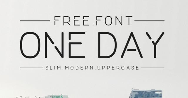 slim typeface