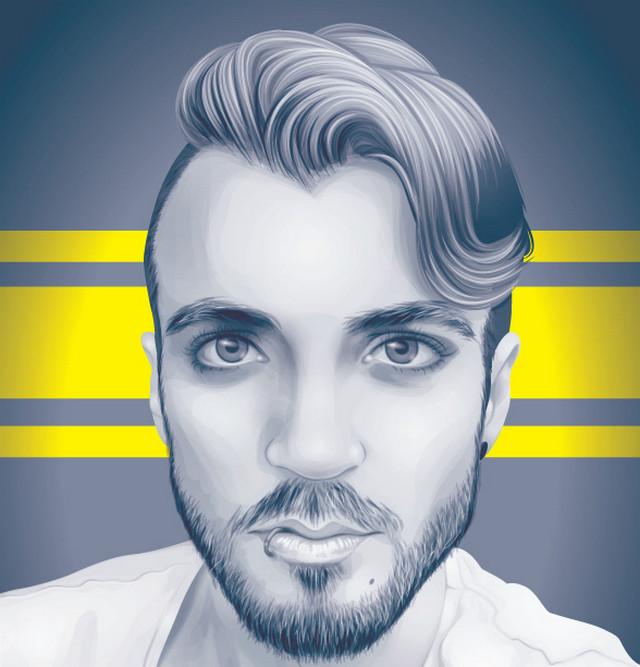 greyscale portrait
