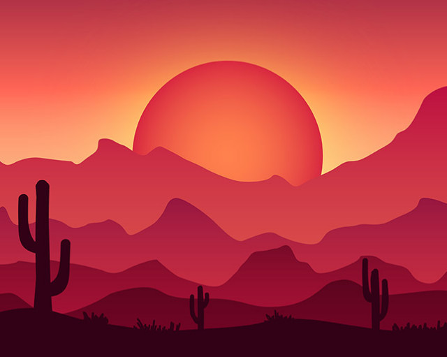 wild west illustration