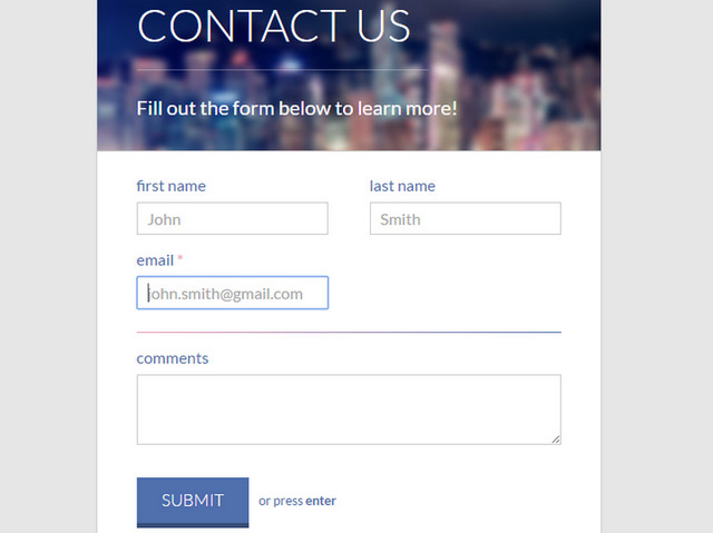 20 Code Snippets for Clean HTML Contact Forms | The JotForm Blog