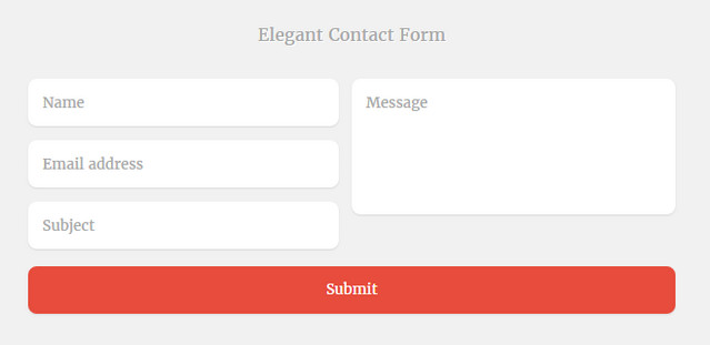 elegant contact form