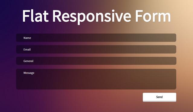 flat responsive form