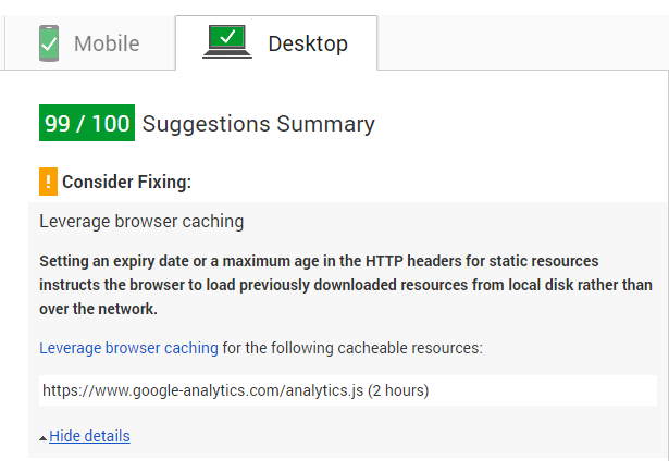google-analytics-leverage-browser-caching