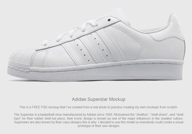 Free PSD Mockup - Adidas Superstar
