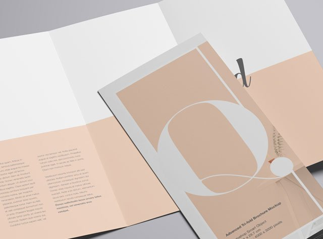 Advanced Tri-Fold Brochure Mockup - PSD