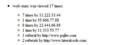 Final Web Statistics
