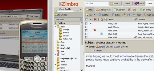 Zimbra ajax webmail clients