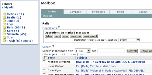 Mailr ajax webmail clients