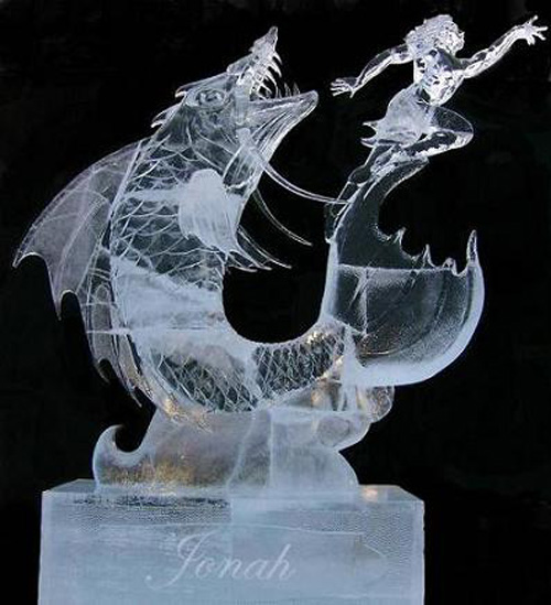 ice fish chasing a mermaid