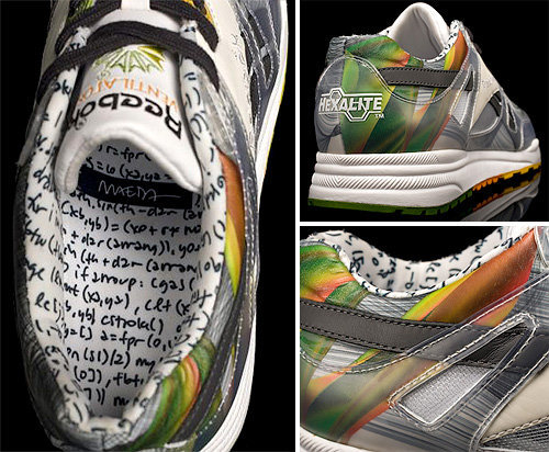 Timetanium custom Reebok sneakers designed by John Maeda