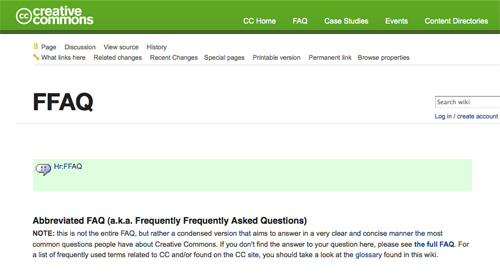 Creative Commons Abbreviated FAQ