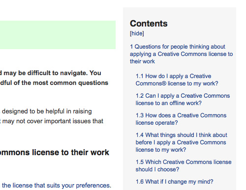 Creative Commons Full FAQ