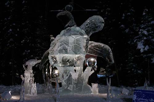 sea turtle Ice Sculpture