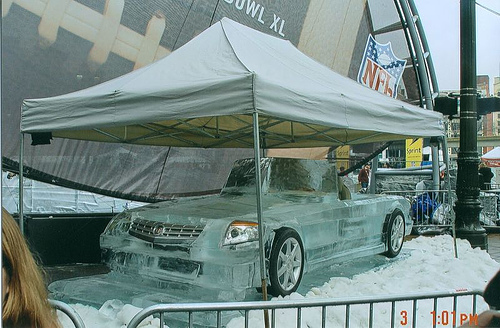 Cadillac Ice Sculpture