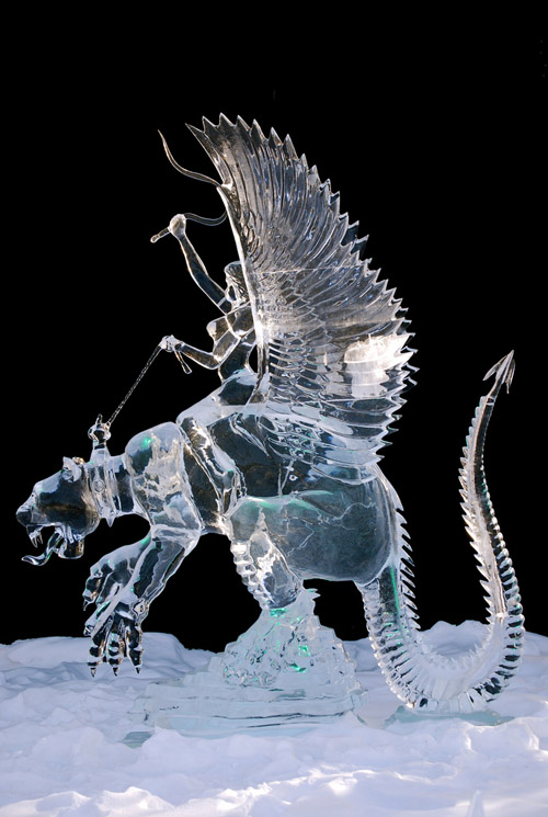 Wild Ride single block Ice Sculpture