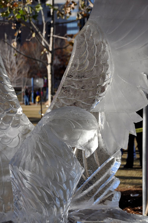 Eagle in an ice sculpture