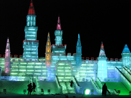 ice castle in Harbin