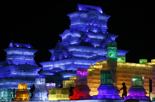 ice Towering pagodas