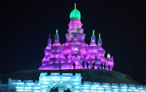 ice castle from Ice Festival in Harbin