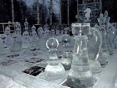 Frozen chess in Khanty