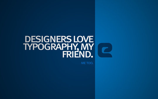 Wallpaper: tom2strobl - Designers love Typography