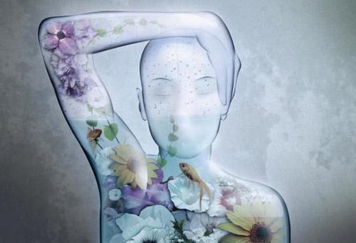 Human Aquarium Illustration Photoshop Tutorial