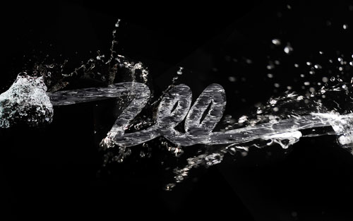 3D Water Text Effect with Repoussé in Photoshop CS5