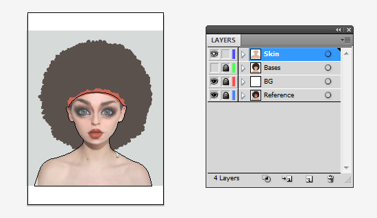 Skins folder on preview to show the reference image underneath.