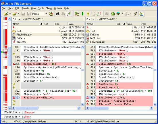 Active File Compare Document Comparison Tool