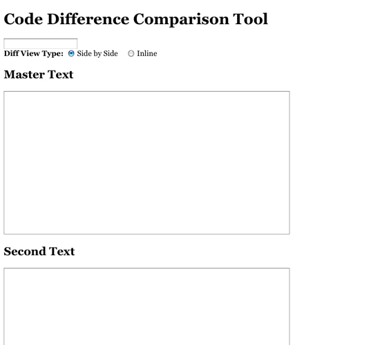 Code Difference Free Comparison Tool