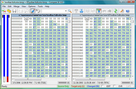 Compare It! 4 binary and image files compare
