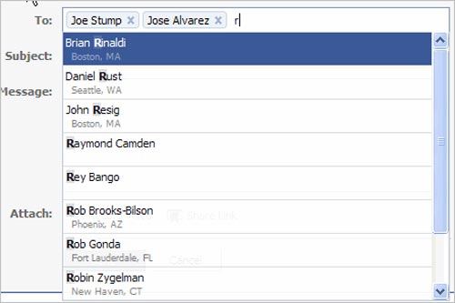 Facebook Style Input Box