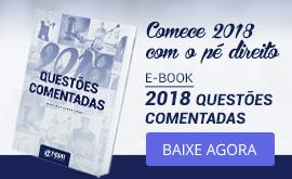e-Book Grátis com 2018 Questões Comentadas