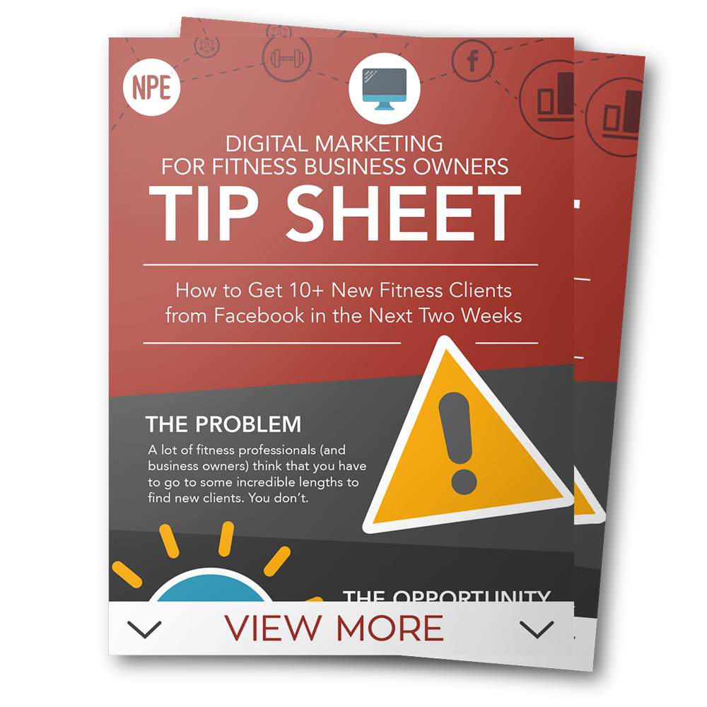 Digital Marketing For Fitness Business Owners Tip Sheet Image