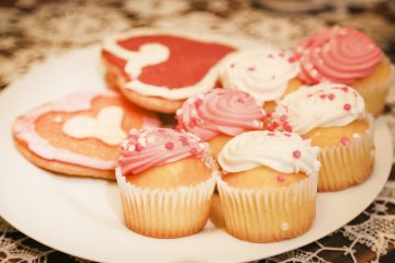 Valentine's Day Party Cupcakes and Cookies