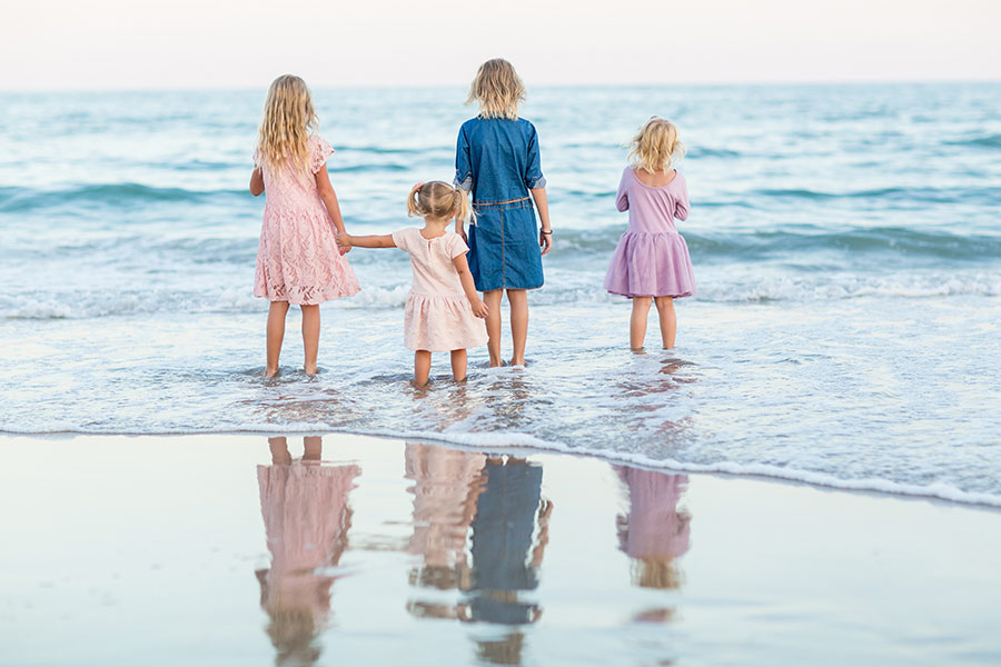 Family Beach Photo by Erin Costa Photography