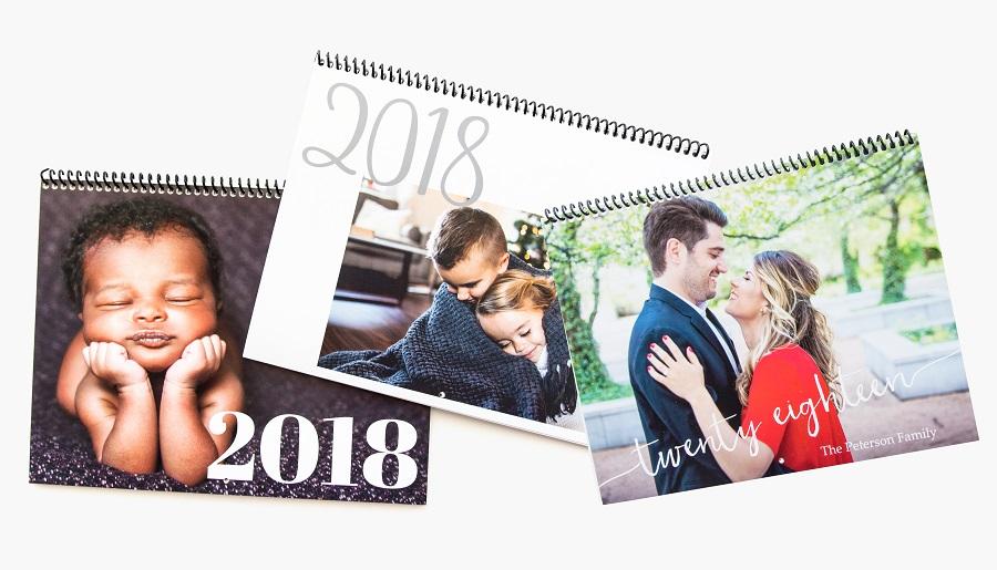 Custom made photo calendars