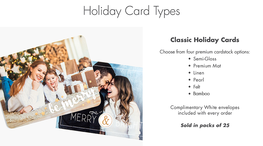 holiday card type details