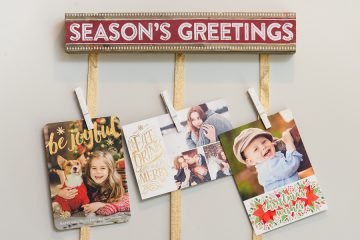 Christmas Card hanging display