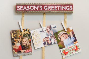 Christmas Card hanging display