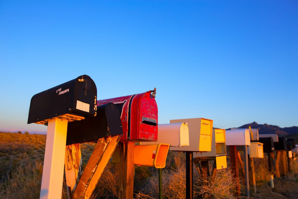 Photo Of Mailbox with landscape background