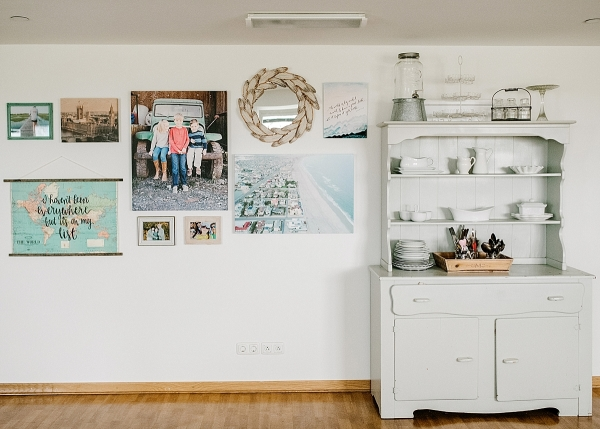 Blue toned gallery wall