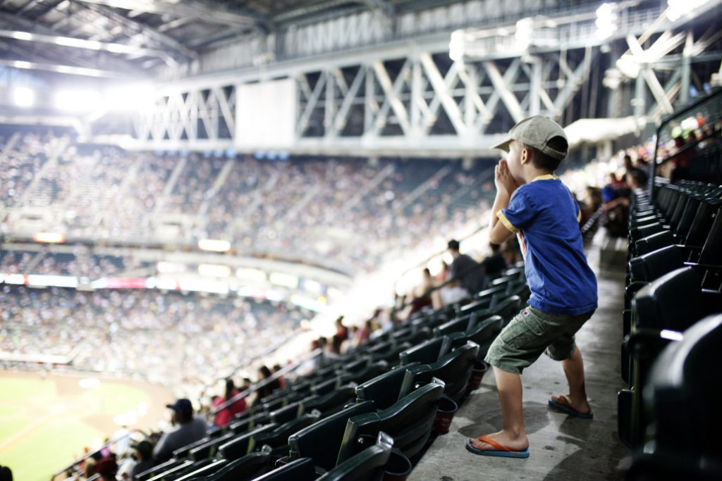 kid at sporting event