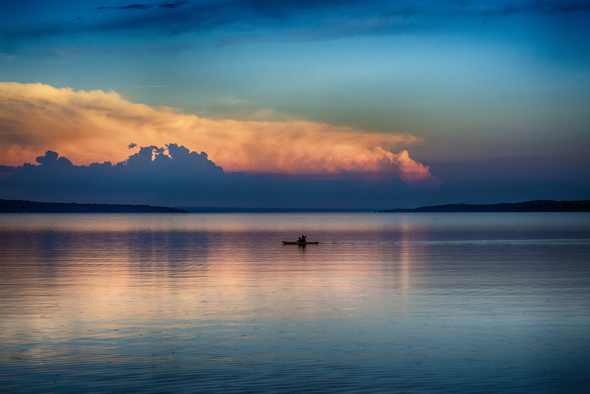 Sunset on a lake | World Photo Day Contest Runner Up