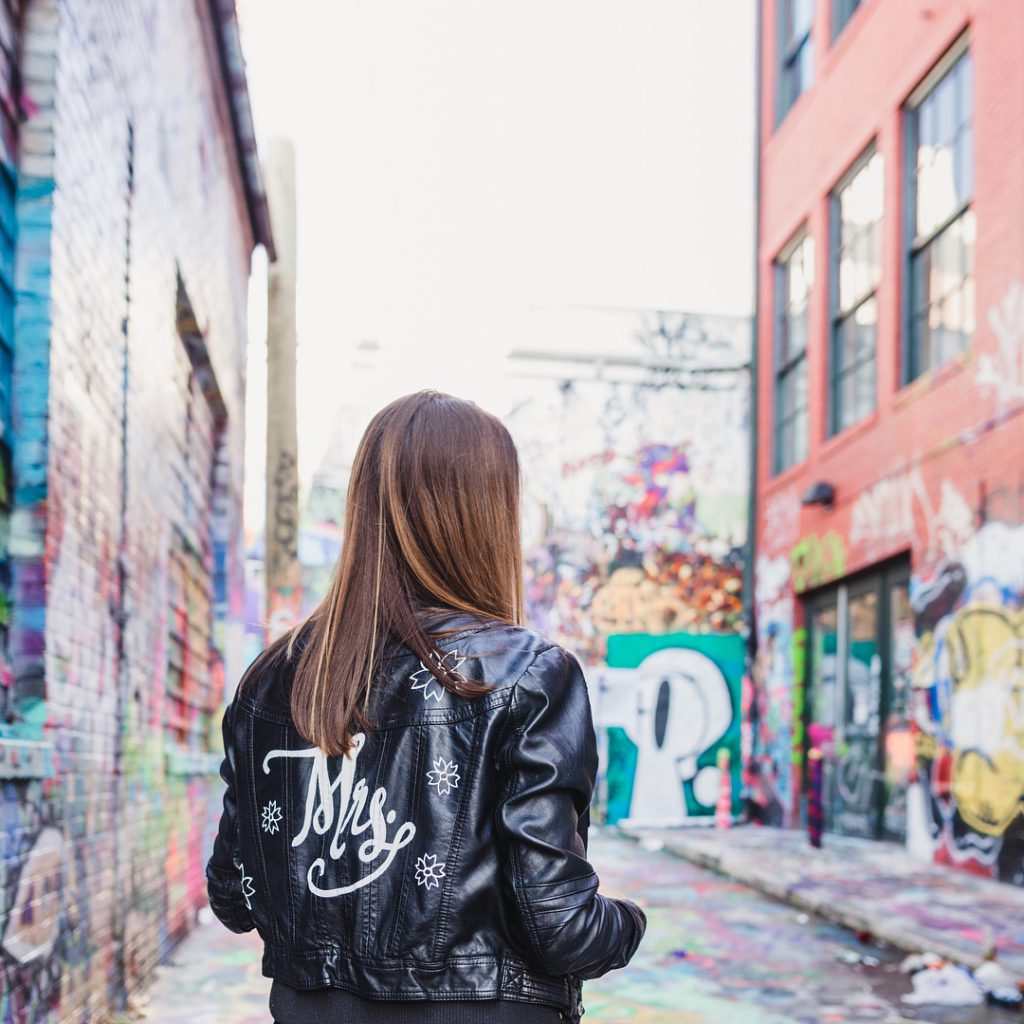 Graffiti Alley in Baltimore, Maryland